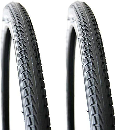 700 X 38C Puncture Resistant Bike Bicycle Tyres with 3Mm Antipuncture Protection for Road Mountain Hybrid Bike Bicycle (Pack of 2)