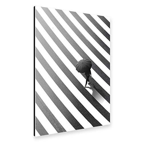 artboxONE Alu-Print 90x60 cm Crosswalk Umbrella von Künstler Danilo of Alexandria