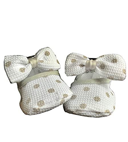 Zapatos de Niña 100% Algodón Zapatos de Princesa Primeros Pasos 0-6 meses PATUCOS FANTASIA VERANO (Gris)