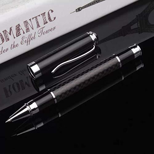 Funmo Penna a sfera e penna in metallo,Refill per penne a sfera,set regalo, finitura in acciaio inossidabile cromato - regalo da uomo