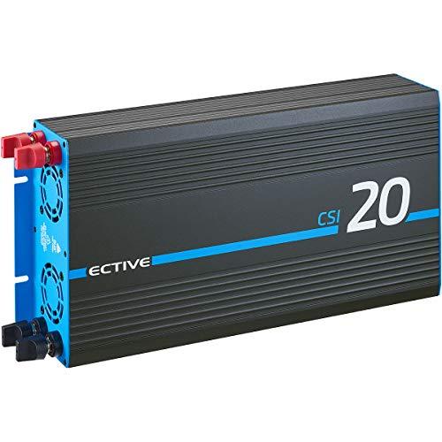 ECTIVE 2000W 12V zu 230V Reiner Sinus-Wechselrichter CSI 20 mit Batterie-Ladegerät, NVS- und USV-Funktion