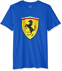 Puma Camiseta Manga Corta Hombre con Escudo Ferrari Deportivo
