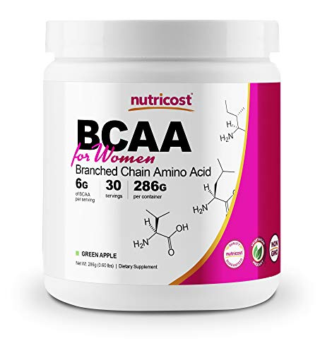 Price comparison product image Nutricost BCAA for Women (Green Apple,  30 Servings) - Formulated Specifically for Women - Non-GMO and Gluten-Free