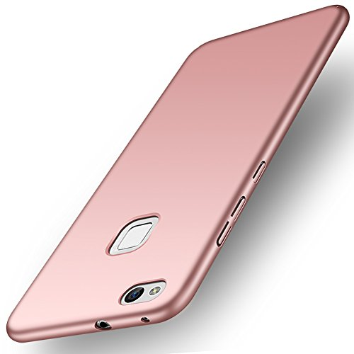 ORNARTO Funda Huawei P10 Lite, HW P10 Lite Carcasa [Ultra-Delgado] [Ligera] Mate Anti-arañazos y Antideslizante Protectora Sedoso Caso para Huawei P10 Lite(2017) Oro Rosa