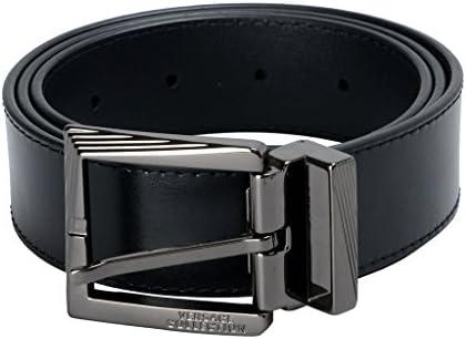 Versace Collection Men s Black Genuine Leather Belt US 32 Versace Sz 85 100 product image