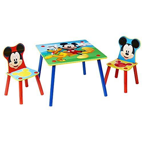 Worlds Apart Conjunto de Mesa y Dos sillas, Madera, Azul, 63.00x63.00x45.00 cm