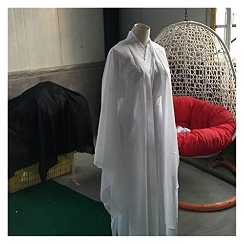 Disfraz tradicional chino para mujer, capa de Hanfu antigua, cosplay y mujer, elegante, traje de escenario, manga de agua, juego de abrigo Hanfu (color blanco, juego de 3 piezas, tamao: XL)