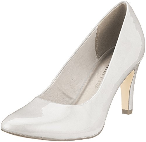 Tamaris Damen 22479 Pumps, Weiß (White Patent), 39 EU