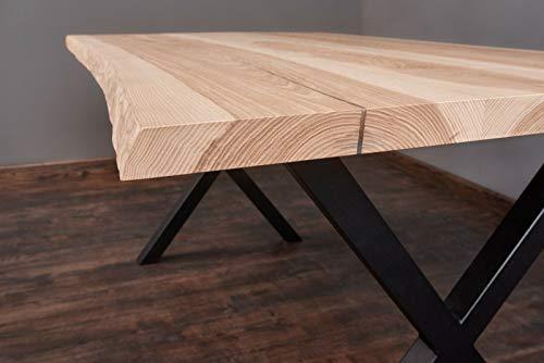 Exim Welt Massivholztisch Esche Tisch Esstisch Holztisch Baumtisch Baumkante Loft