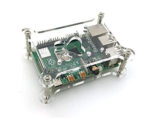 GeauxRobot Raspberry Pi 4B 3B+, 3B, Pi 2 B and B+ Case Box Enclosure Dog Bone Shape