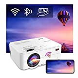 WiFi Bluetooth Projector - Artlii Enjoy 2 Mini Projector for iPhone Support Full HD 1080P, Keystone & Zoom, 300' Portable Movie Projector Compatible with TV Stick, iOS, Android
