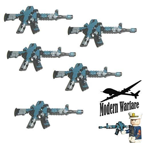 Custom Brick Design 5X M4 Sturmgewehr Camo Print - Soldaten Waffe für Lego Figuren