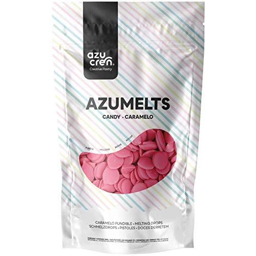 Azumelts - Cobertura para Repostería para Cubrir, hacer Dripping o Dibujar en Dulces - 250 G (Rosa)