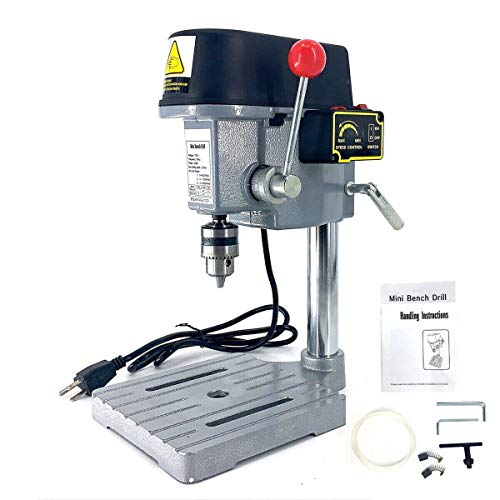 SOFEDY 340W Mini Electric Bench Drill Press Stand Table Drill Press Mini Drilling Machine 3-speed Adjustable Drilling Workbench Repair DIY Tool Drill Chuck 1-10mm for Non-hard Material Drilling