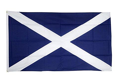Flaggenfritze Fahne/Flagge Schottland Schottische Flagge hissfertig mit Ösen 90 x 150 cm + gratis Sticker