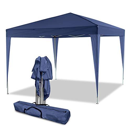 Gazebo/Tonnelle de Jardin Tente de réception 3x3m pavillon imperméable Tente Pliante de Jardin (Bleu)