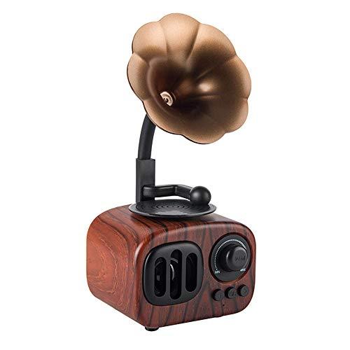 Longpro Small Portable Bluetooth Speaker Retro Vintage Phonograph Shape Home Decor, Built in Mic, TF...