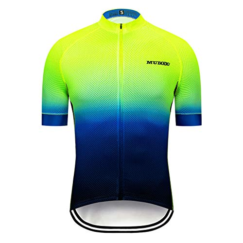 WPW Maillot de Ciclismo Superior Fluorescente MTB, Camiseta de Hombre Transpirable de Manga Corta de Verano, Camisetas de Carreras (Talla : X-Large)