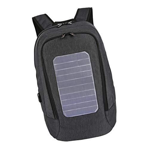 F Fityle Mochila Panel Solar 5.3V Cargador USB Impermeable
