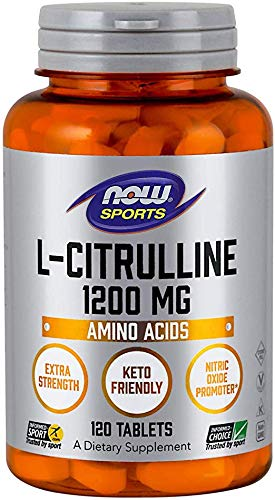 NOW NOW® L-citrulina, 1,200 mg, 120 Tabs
