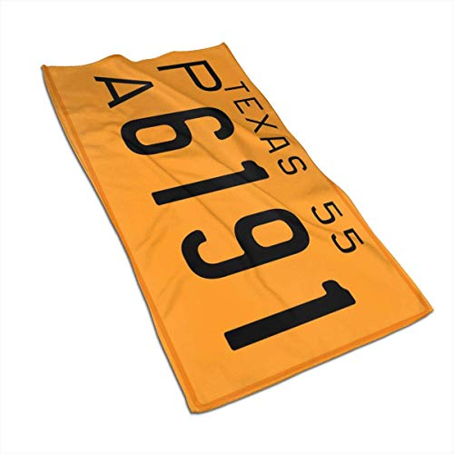 Tyueu Toallas de cara Texas 1955 License Plate Face Towel,Towels-Dish 3D Design Towels Towels for The Kitchen,Cleaning,Cooking,Baking,Dishwashing Towel 15,7 x 27,5 cm
