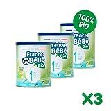 FRANCE BéBé BIO - Lait bébé 1er âge en poudre - Boîte de lait infantile en poudre pour Nourrisson de 400 gr - Lait fabriqué en France avec du lait français - 13 Vitamines 12 Minéraux - lot de 3