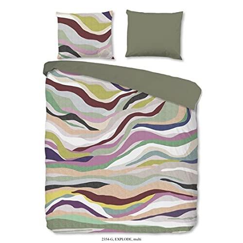 Good Morning! Explode 2354.99.08 - Juego de cama (2 piezas, funda nórdica de 135 x 200 cm y funda de almohada de 80 x 80 cm)