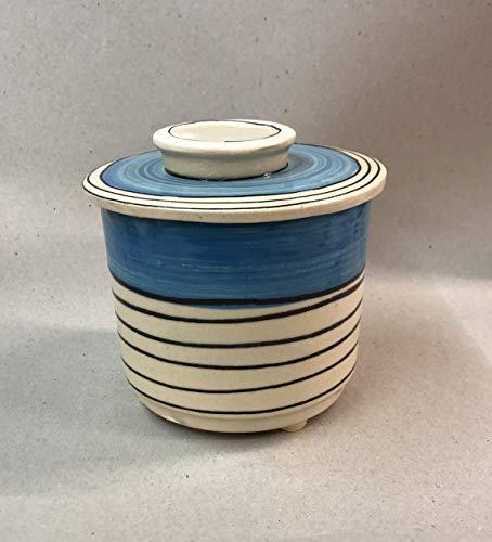 französische Wasserbutterdose für 250g Butter in blau