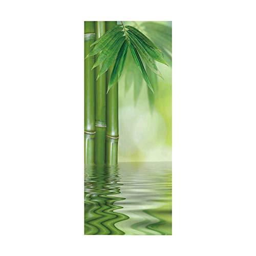 wollcan Türaufkleber 3D Innenkunstaufkleber Wohnzimmer Bambus im Wasserbett Bürobadezimmer Hauptdekoration
