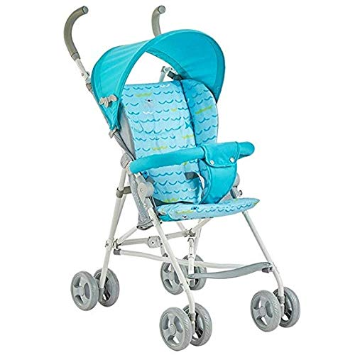 Review Cylficl Baby Stroller, Stroller, Light and Easy Folding Portable Baby Wagon (Color : Blue)