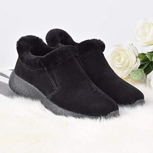 Flip Flop-GQ Chaussures en Peau de Mouton Chaussures Chaudes...
