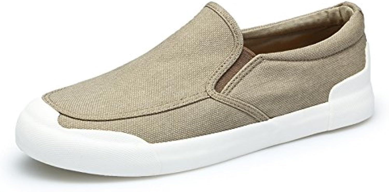 Lixus Men's canvas shoes fashion casual men's canvas shoes casual shoes,Khaki,Forty-one
