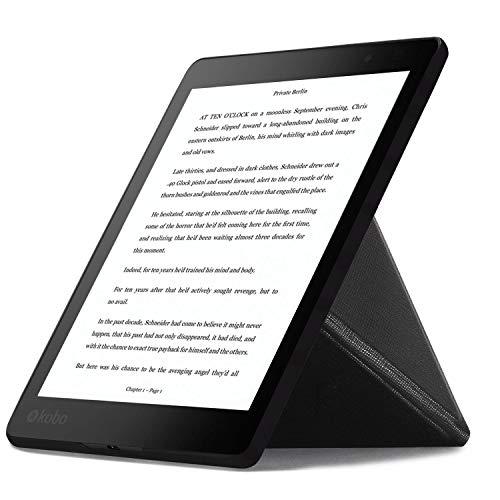 Forefront Cases Kobo Aura One 7.8 Origami Funda Carcasa Stand Smart Case Cover – Ultra Delgado Ligera Protección Completa con Función Auto Sueño Estela + Lápiz Óptico y Protector de Pantalla (Negro)