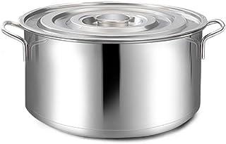 WQF Bandeja de inducción de Acero Inoxidable Grande y Profunda Ollas para cazuelas, Ahorra Tiempo Temperatura Inferior de la Cocina Bandeja de Material Compuesto Fondo, Diámetro 40 cm,