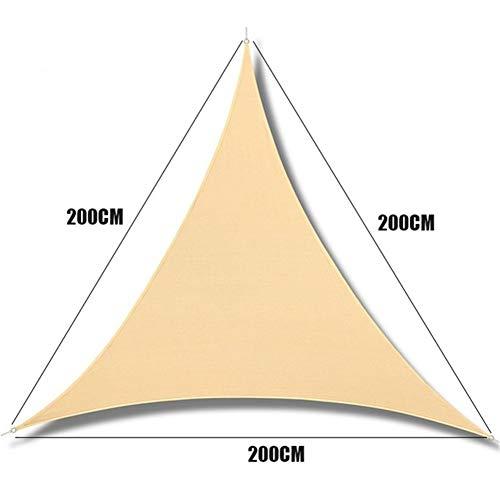 W.Z.H.H.H Schattensegel Beige Triangular Wasserdicht Oxford Sonnensegel Terrasse Canopy Schwimmen Sonnenschutz Outdoor-Camping-Sail Markisen Sonnenschutztuch. (Color : 2x2X2m, Size : Beige)