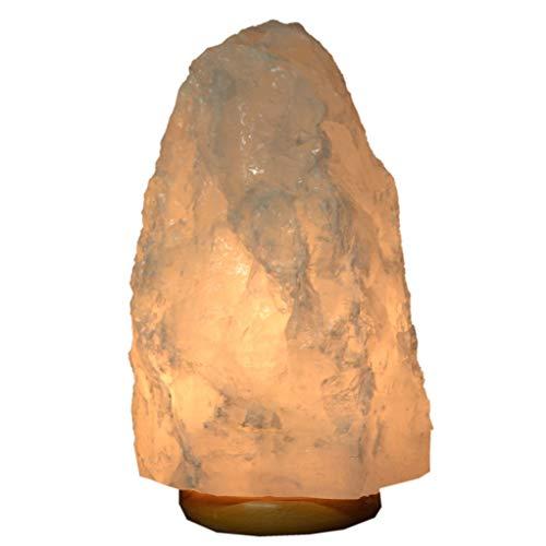 Bergkristall Rohstein Brocken Lampe. Diese Edelstein Kristall Leuchte ist Naturstein und EIN interessanter Heilstein und Deko Objekt für jeden Wohnbereich und Ihren Schreibtisch ca.7-8 kg