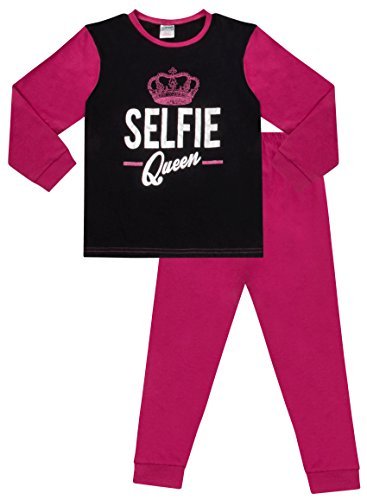 Pijama de niña, Selfie Queen, manga larga, tallas de 9 a