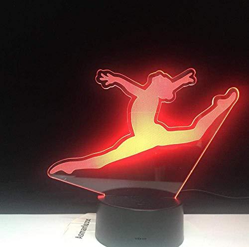 Night Light Splitting Jump Dance Illusion d'optique Light Touch Sensor Baby Kids Nightlight 16 Colors Decorative 3D Gift