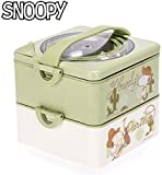 LFDHSF Snoopy Cartoon Wasserdämmschale Edelstahl Heizung Lunchbox Lebensmittel Bento Box Tragbar...