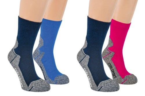 Vitasox 22106 Kinder Jungen Socken Kindersocken Funktionssocken Sportsocken Frotteesohle bunt 4er Pack 31/34
