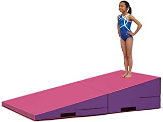 Greatgymats Large Folding and Non-Folding Gymnastics Incline Cheese Wedge Skill Shape Tumbling Mat or Gym Octagon Tumbler Mats for Kids Exercise
