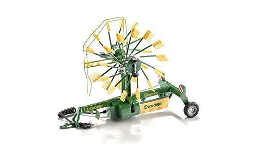 SIKU 6782, 2-Kreisel Schwader-Anhänger, 1:32, Ferngesteuert, Für SIKU CONTROL Fahrzeuge mit Anhängerkupplung, Metall/Kunststoff, Grün