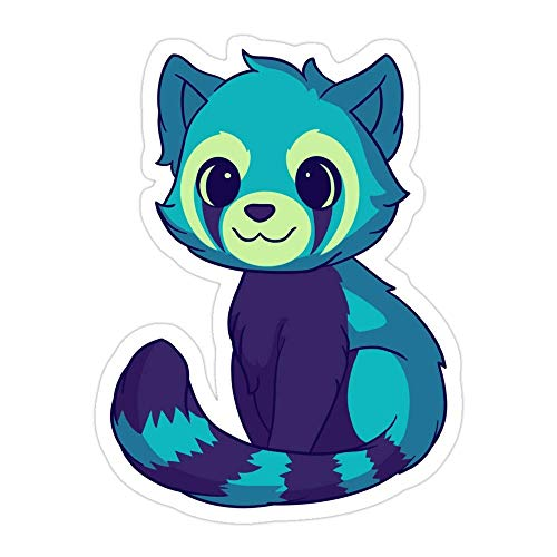 DKISEE (3 PCs/Pack Blue Red Panda Die-Cut Stickers Decals for Laptop Window Car Bumper Helmet Water Bottle 4 inches