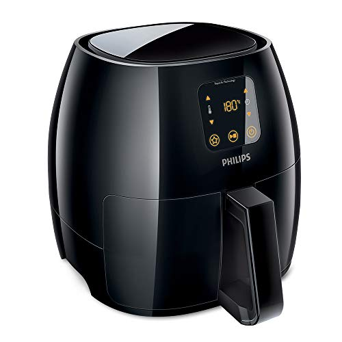 An image of the Philips HD9240/90 Avance Collection Air Fryer, Healthy Cooking, Baking and Grilling, Extra-Large, Plastic, 2100 W, 3 liters, Black