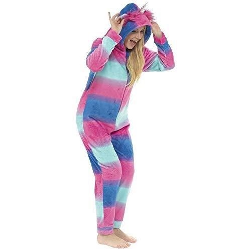 Damen Einteiler mit Tiermotiven, weiches Fleece, Loungewear, Schlafanzug Gr. Medium,...
