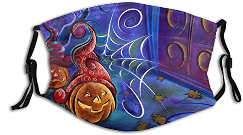Halloween Pumpkin Horror Face Mask Fashion Dustproof Breathable Reusable Scarf Adjustable Washable Protective Bandana Pumpkin Horror made in usa