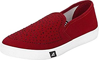 Camfoot Women's Red Loafers (779-Parent)