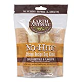 Earth Animal No Hide Long Lasting Rawhide Replacement Dog Treats - Small Chews - Chicken 2pk 68 g