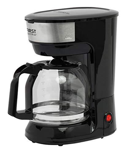TZS First Austria - 12 Tassen Filterkaffeemaschine mit Dauerfilter Kaffeemaschine mit Warmhalteplatte | schwarz | Filtermaschine mit Glaskanne | Permanentfilter | Tropfstopp FA-5459-5