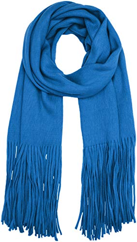 PIECES Damen PCDRACE Long Scarf NOOS Schal, Blau (Victoria Blue Victoria Blue), One Size